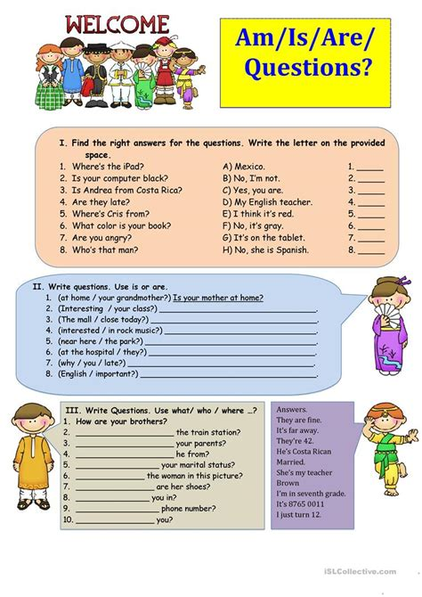 Am  Is  Are  Questions Worksheet  Free Esl Printable Worksheets Made By Teachers