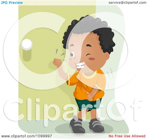 clipart black boy knocking   bathroom door
