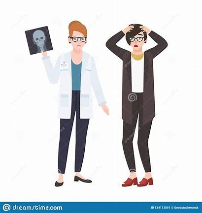 Angry Doctor Female Medico Patient Paziente Demonstrating