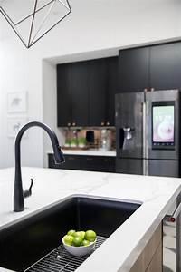 black sink white countertop kitchen sink decor best