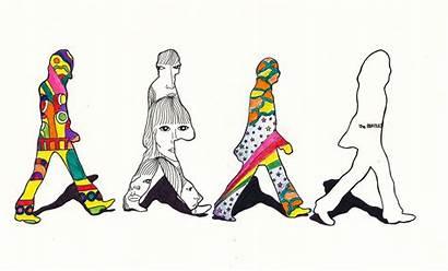 Beatles Abbey Road Silhouette Sketch Mural Album
