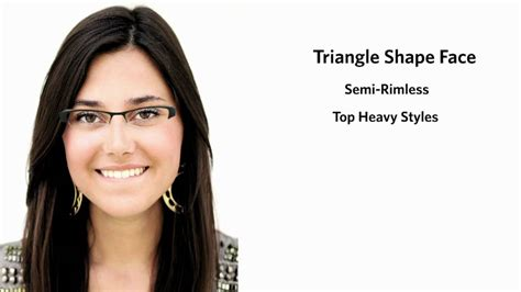 frames   triangle face shape female youtube