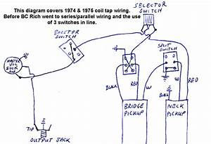 Coil Tap Wiring Diagram For 1974 To 1976 Bc Rich Guitars