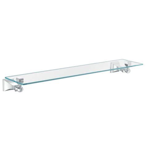 Delta Bathroom Glass Shelf by Delta Alexandria 25 In W Glass Shelf In Polished Chrome