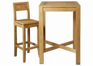 Table Bar Bois : table de bar en bois ~ Teatrodelosmanantiales.com Idées de Décoration