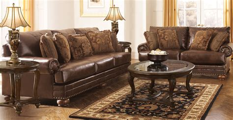 furniture livingroom buy ashley furniture 9920038 9920035 set chaling durablend antique living room set