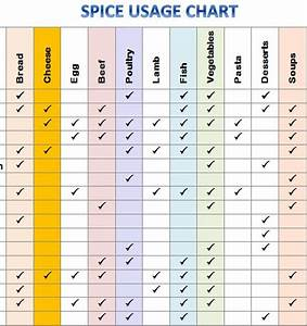 Medication Chart Template Free Download Spice Usage Chart Template Haven