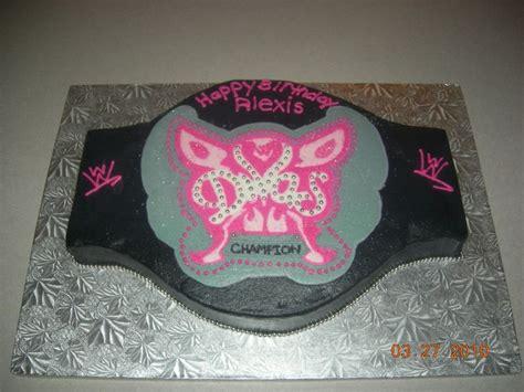 belt cake theme party all about wwe divas pinterest