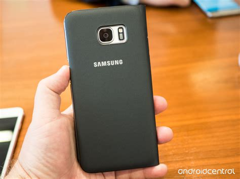 samsung original s view standing cover note 7 black this is the galaxy s7 edge s view flip cover android central