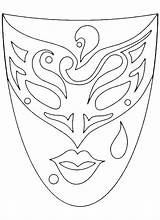 Mask Drawing Masks Template Coloring Adult Pages Venetian Visit Icolor sketch template