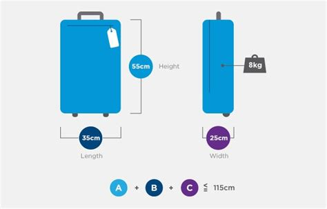 cabin baggage dimensions luggage