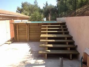 Escalier Pour Piscine Hors Sol : escalier ext rieur bois toulon var la garde hyeres bandol 83 ~ Dailycaller-alerts.com Idées de Décoration