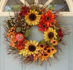 Etsy Fall Wreaths Holiday Bright Bold and Beautiful blog