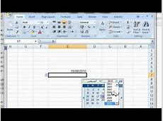 How to use date time picker in Microsoft excel 2007, excel
