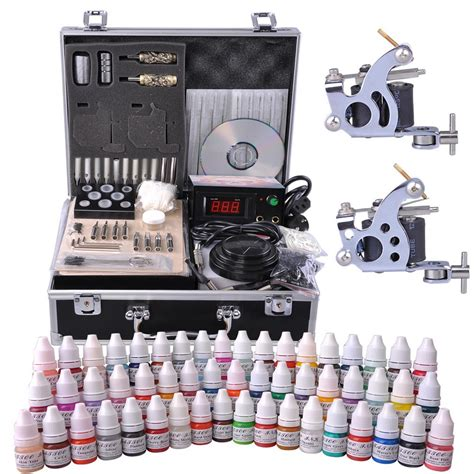 Complete Tattoo Kit 2 4 6 8 Machine Gun Power Supply 40