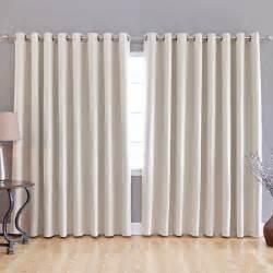 fashion beige wide width grommet top thermal blackout curtain 100 034 w x 84 034 l ebay