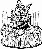Desserts Cake Coloring Pages sketch template