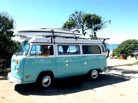 Vw Bay Window At The Beach #vwbus Volkswagen Pinned By