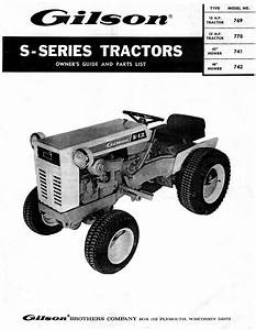 Gilson S Series Models 769 770 Montgomery Wards Tractors