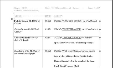 ms word  format scripts