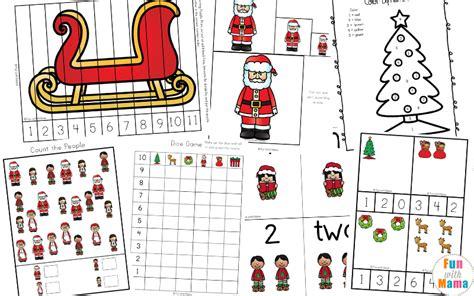 free printable worksheets with 256 | Christmas Preschool Printable Pack f