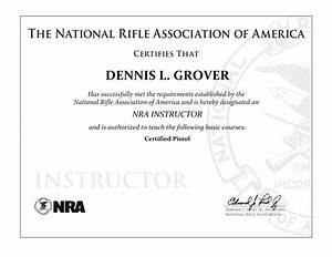 nra training certificate template choice image With nra certificate template