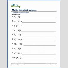 Grade 6 Multiplication And Division Of Fractions Worksheets  Free & Printable  K5 Learning
