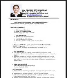 sle of resume for fresh graduate resume sle for fresh graduate philippines resumes design