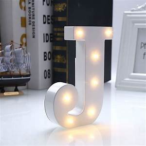 Creative, 26, Letters, Led, Warm, White, Night, Light, Bedroom, Wall, Wedding, Party