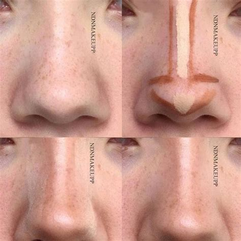 makeup step  step tips   perfect  nose makeup nose contouring