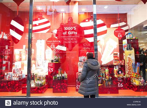 a lady looking at the bhs british home stores christmas
