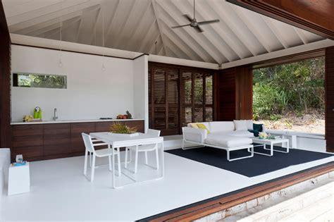 small beach house  designed  true indooroutdoor living