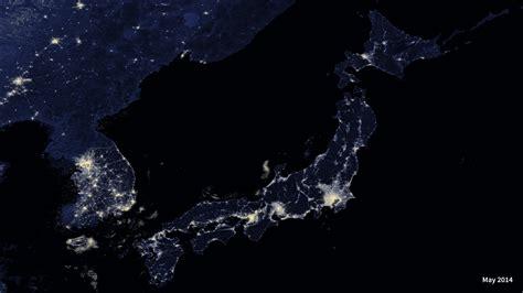Hyperwall Japan At Night