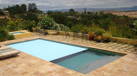 Noce Travertine Drop Pool Coping Tiles Tumbled And