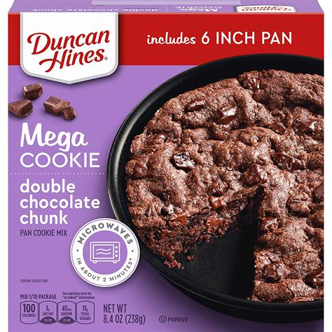One batch was made with betty crocker salted caramel brownie mix and the other was made with duncan hines devils food chocolate cake mix. Make A Giant Holiday Cookie With Duncan Hines Mix - Simplemost