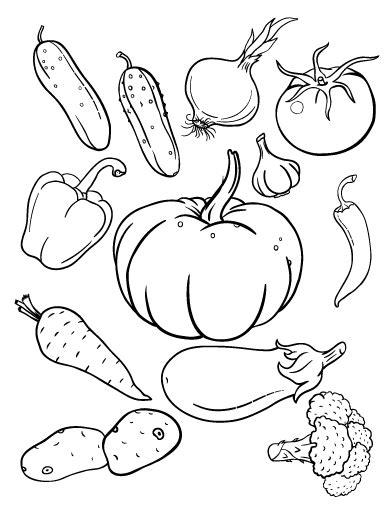 printable vegetables coloring page free pdf at