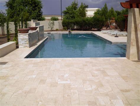 walnut travertine bullnose pool coping tile