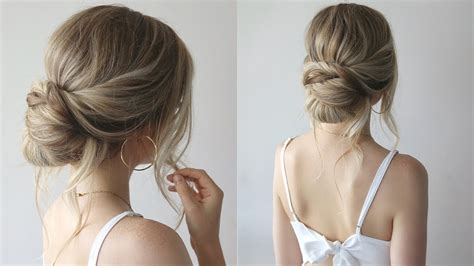 simple updo bridesmaid hairstyles  youtube