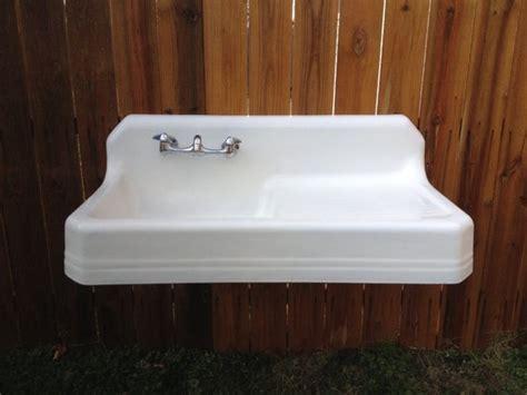 farmhouse kitchen sinks with drainboard antique richmond farm sink drainboard highback by 8913