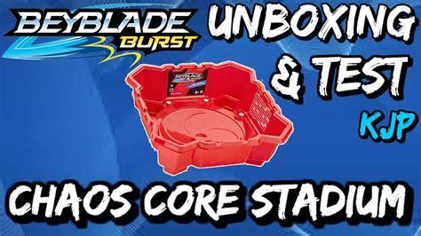 chaos core stadium beyblade burst unboxing qr code