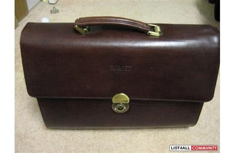 bugatti laptop business leather bag  condition