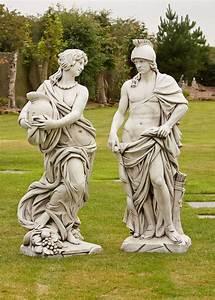 Roman, Gladiator, U0026, Goddess, Stone, Sculpture