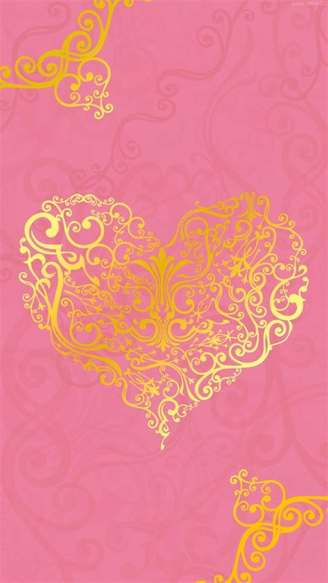 Screen Lock Screen Gold Pink Wallpaper Iphone by Pink With Gold Iphone Wallpaper Background Hearts