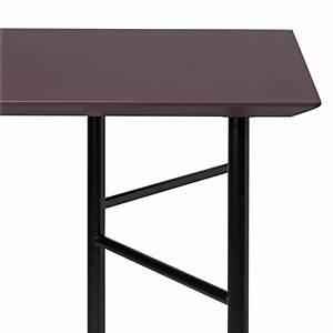 Tréteaux Pour Table : plateau de table ferm living plateau 160x90 cm bordeaux made in design ~ Melissatoandfro.com Idées de Décoration