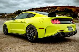 Widebody Ford Mustang S550 Yellow with Forgeline GA1R Aftermarket Wheels | Wheel Front