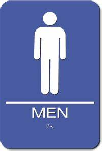 Injection molded men39s bathroom ada sign blue 6quot x 9 for Men in bathrooms