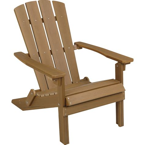 folding composite adirondack chair brown www kotulas