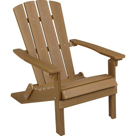 Stonegate Designs Folding Resin Adirondack Chair — Brown