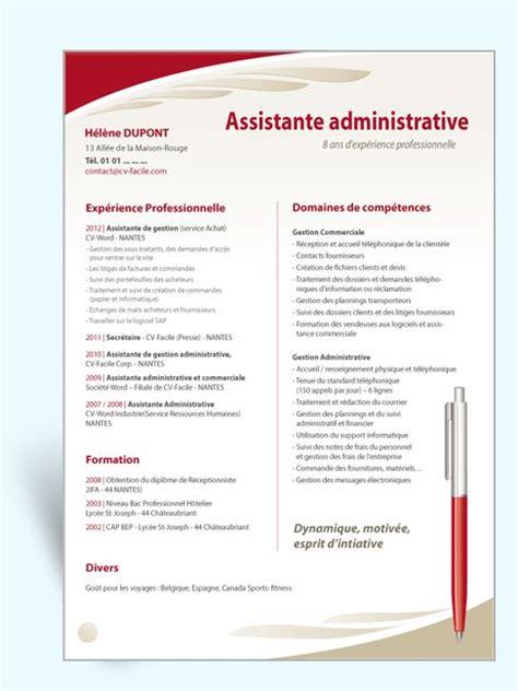 modèle cv secrétaire polyvalente secretaire de direction exemple et modele de cv gratuit