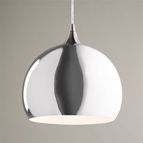 chrome ball pendant light medium shades of light